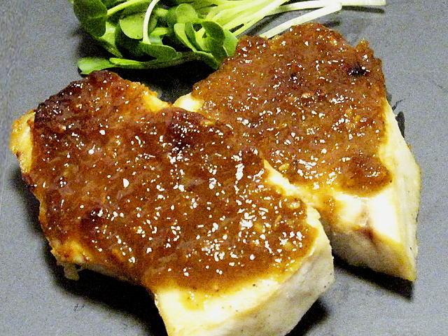 白身魚の田楽味噌焼き