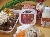 キノコ甘酒鍋材料