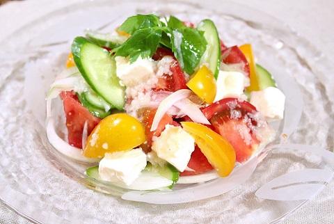 塩糀鍋の素 サラダ トマトサラダ